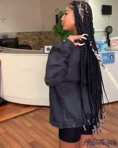Box Braids Hairstyles For Black Women, Braids Hairstyles Pictures, Twist Braid Hairstyles, Dope Hairstyles, African Braids Hairstyles, Braids For Black Hair, Protective Hairstyles, Black Girls With Braids, Protective Style Braids