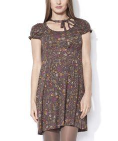 Purple & Yellow Macarena Dress