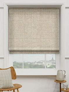 Linen Hopsack Roman Blind from Blinds 2go #windowtreatments