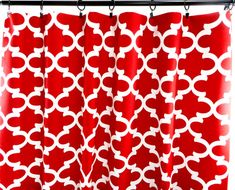 Red Curtains. Moroccan Curtains. room by TwistedBobbinDesigns