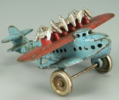 cute old airplane toy
