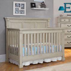 Monbebe Everett 4-in-1 Convertible Crib - Antique Gray - DA1421B4