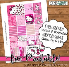 CDB Planner Prints: Hello Kitty and like OMG! get some yourself some pawtastic adorable cat apparel!