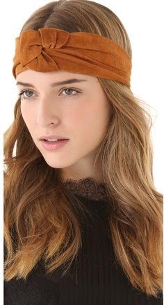 Suede Eugenia Kim headband.
