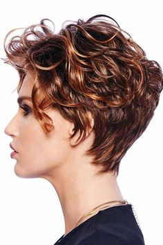 The New Romantic by Raquel Welch Wigs - Lace Front, Monofilament Top Wig Short Wavy Pixie, Short Curly Haircuts, Curly Hair Cuts, Black Curly Hair, Long Curly Hair, Short Hair Cuts, Curly Hair Styles, Raquel Welch Wigs, Synthetic Lace Wigs