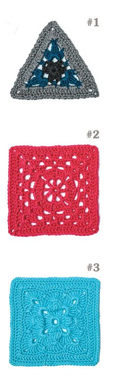 99 Granny Squares to Crochet - Take a creative journey beyond the basic granny square! The motifs in 99 Granny Squares to Crochet are great for using any weight of yarn and your favorite color combinations to make throws, pillows, baby blankets, shawls, scarves or cowls, bags, and more. Depending on your mood, you can give a different look to every creation. There is no limit to what a granny square can become!