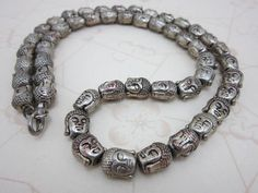 "Vintage Buddha head 22"" long necklace on Etsy $68 from HouseOfRene https://www.etsy.com/shop/HouseOfRene"