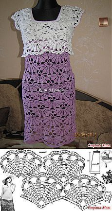 Pattern for dress in hairpin lace Mais Crochet dress pattern Crochet dresses are always nice and individual. Crochet dresses can we warm winter cro Crochet Diagram, Crochet Motif, Crochet Top, Crochet Shirt, Crochet Jacket, Patron Crochet, Diy Crafts Crochet, Crochet Stitches Patterns, Crochet Fashion