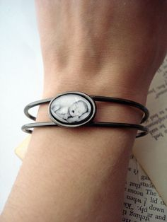 Customized Photo Cuff Bracelet  Personalized with by jerseymaids, $35.00