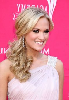 Hairstyles for One Shoulder Dresses