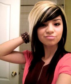 pictures of emo hairstyles for girls | Emo Girls Long Emo Hairstyles with Highlights
