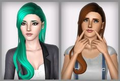 Zauma's hair 34 Taeyeon by Forever And Always - Sims 3 Downloads CC Caboodle
