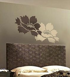 Large Flower Stencils. Beautiful Reusable Stencils For DIY Wall Decor.