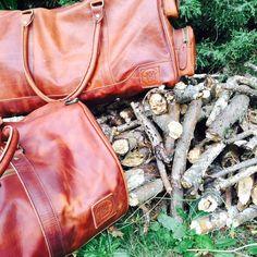 Vintage Brown Deep Weekender and Duffle Leather Holdalls, Weekender, Deep, Unisex, Pocket, Brown, Casual, Vintage, Accessories