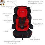 BabyGo -  Scaun auto FreeMove Red