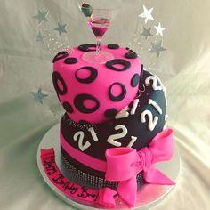 21st birthday cake www.creativecakesbykeekee.com