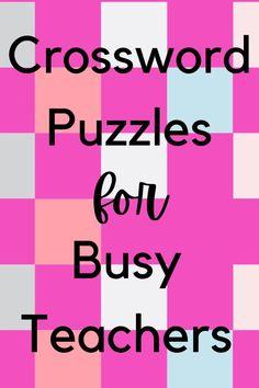 Middle School Classroom, High School, Upper Elementary, Elementary Schools, Crossword Puzzles, Escape Room, Teacher Stuff, School Stuff, Vocabulary