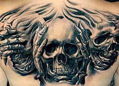 New tattoo geometric chest patterns ideas – Tattoo Pattern Tattoo Tribal, Evil Skull Tattoo, Evil Tattoos, Tattoos Skull, Skull Tattoo Design, Badass Tattoos, Body Art Tattoos, New Tattoos, Tattoos For Guys