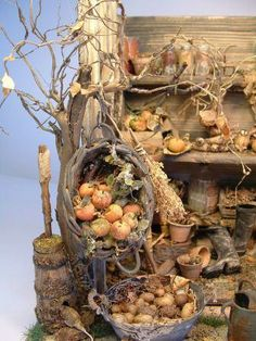 Gathering in the Harvest - Create an autumnal miniature with Janet Brownhill | Features | Collectors Club of Great Britain