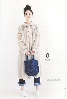 Simple Clothes A to Z - Japanese Sewing Pattern Book for Women - Kyoko Inada - 3 Style Du Japon, Modest Fashion, Fashion Outfits, Fashion Fall, Japanese Sewing Patterns, Mode Simple, Natural Clothing, Japanese Outfits, Japanese Style