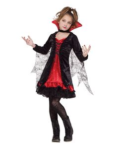 Lace Vampiress Child Costume