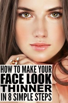 8 beauty tricks to make your face look thinner – hautpflege gesicht Thinner Face, Look Thinner, How To Look Skinnier, Prom Makeup Looks, Fall Makeup Looks, Makeup Tricks, Undercut Hairstyles, Cool Hairstyles, Face Slimming Hairstyles