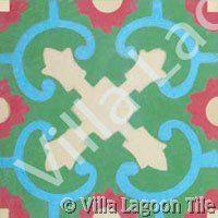 Caribbean style floor patterns