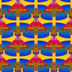 CHERRY CAKE HIDDEN FANTASY ANIMALS MOTH fabric by paysmage on Spoonflower - custom fabric
