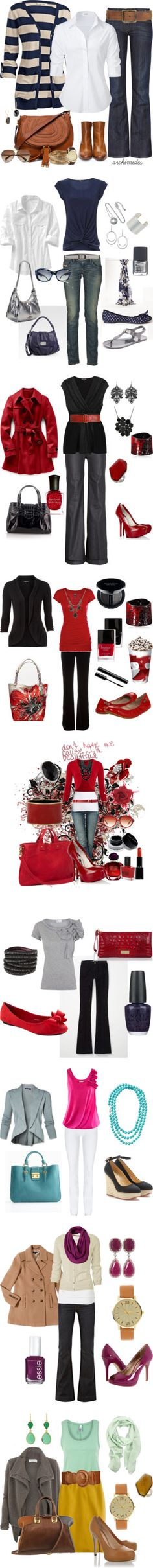 """Workin' 9-5"" by riddlechick on Polyvore"