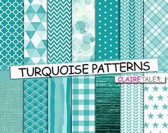 Popular items for turquoise pattern on Etsy