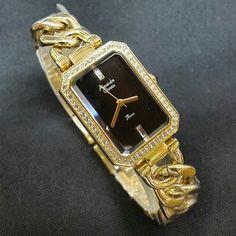 JAM TANGAN ALEXANDRE CHRISTIE WOMEN 2452 LH BLACK GOLD ORIGINAL #jamtangan #alexandrechristie #original