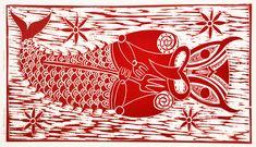 Maori Art New Zealand Printmaking Sam Farquhar Kura Gallery Marakihau Maori People, New Zealand Art, Nz Art, Maori Art, Cool Art, Awesome Art, Sea Creatures, Printmaking, Gallery