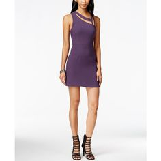 BCBGeneration Cutout Bodycon Dress ($118) ❤ liked on Polyvore featuring dresses, deep plum, white bodycon dress, white dress, cutout bodycon dress, bodycon cocktail dress and cut out bodycon dress