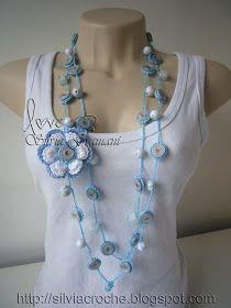 Crochet Necklace Pattern, Crochet Jewelry Patterns, Crochet Bracelet, Crochet Accessories, Crochet Earrings, Crochet Ruffle Scarf, Crochet Scarves, Crochet Flowers, Scarf Jewelry