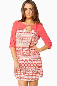 Adyna Shift Dress in Tomato / ShopSosie #shopsosie #sosie