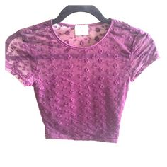 Urban outfitters lace crop top Floral lace maroon crop top ! Worn once ✨ Pins & Needles Tops Crop Tops