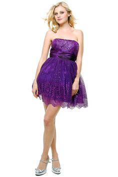 2012 Homecoming Dresses Purple Ballerina Prom Dress - XS to 2X - Unique Vintage - Cocktail, Pinup, Holiday & Prom Dresses.