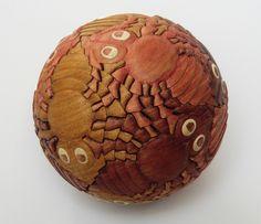 Bjarne Jespersen, 2011, Magic Sphere with Escher's Ants (elm)