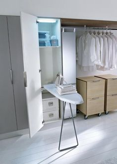 Fold out ironing board Diy Kitchen Storage, Laundry Room Storage, Storage Spaces, Kitchen Room Design, Home Room Design, Utility Room Designs, Laundry Room Layouts, Industrial Home Design, Dressing Room Design