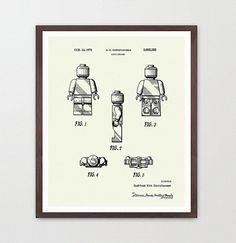 Lego Patent  Lego Movie Poster  Lego Art  von WunderKammerEditions, $9.00