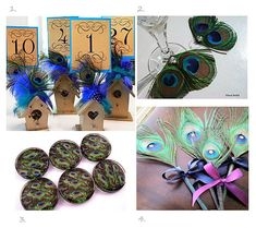 Peacock Feather Wedding Decorations | Peacock Wedding Invitations and Wedding Ideas |