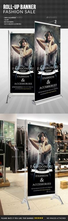 Fashion Sale Roll Up Banner Template PSD #design Download: http://graphicriver.net/item/fashion-sale-roll-up-banner-/13279451?ref=ksioks