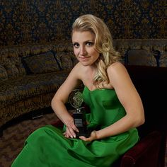 Annaleigh Ashford in the TodayTix Tony Awards photo lounge at the O&M after-party at The Carlyle. Photo by Amy Arbus.