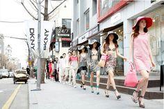 Spring 2012 DKNY Guerrilla Runway Show & Event in Garosu Street in Seoul, South Korea, March 25, 2012.