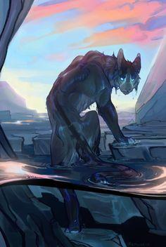Speedpaint – random drawing - 228 ( 720 X 1280 ) Mythological Creatures, Fantasy Creatures, Mythical Creatures, Creature Concept Art, Creature Design, Creature Drawings, Animal Drawings, Fantasy Kunst, Fantasy Art