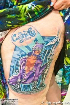 Candy's Candy Show tattoo - done by Monty Ricken Candy, Tattoos, Board, Sweet, Toffee, Tatuajes, Sweets, Tattoo, Sign