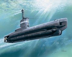 [Art] Another exercise in futile brilliance - Type XXIII submarine at periscope depth [1280x1024]