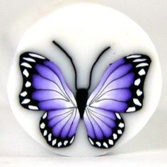 polymer clay canes | Polymer Clay PURPLE Butterfly Cane B39 by Seana. $5.50, via Etsy.