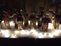 """""""Piparkakkukylä -joulukalenteri"""" (Alkuopettajat FB -sivustosta / Eriika Nummenranta) School, Christmas, Painting, Natal, Xmas, Painting Art, Weihnachten, Yule, Paint"""