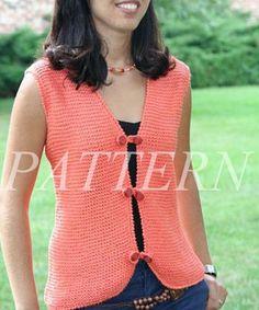 Misti Alpaca Garter Stitch Vest Pattern - Cotton & Silk                                                                                                                                                                                 More